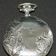 Art Nouveau 900 Silver Longines Pocket Watch, c. 1905