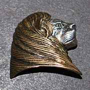 Fine Quality Lion's Head Sterling Silver Brooch