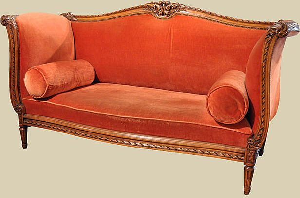 Lovey French Walnut Sofa