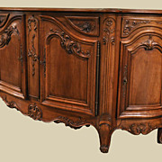 Gracious French Walnut Buffet