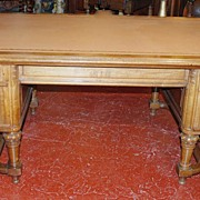 Handsome Louis XIII Style Partner Desk