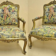 Beautiful Pair of Louis XV Style Armchairs