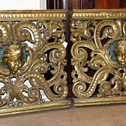 Pair of 18th Century  French Carved Gilt Elements