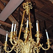 French Dore Bronze Chandelier