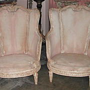 REDUCED Pair of Refinished French Bergeres