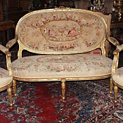 Louis XVI Gilded Salon Set
