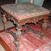 REDUCED Period 18th Century Louis XIV Tapestry Bench