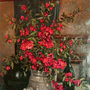 �Still-Life of Red Flowers�