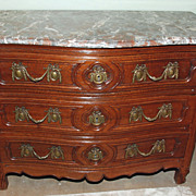 Period Regence Oak Marble Top Commode