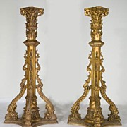 SALE Pair of Louis XIV Style Torchieres