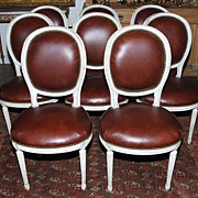 Wonderful Set of Eight French Chairs