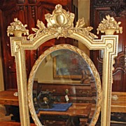 Sweet French Gilt Swivel Mirror