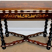 French Inlaid Rosewood Game Table