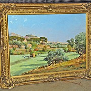 Signed Oil on Canvas Landscape Painting
