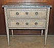 Pretty French Painted Two Drawer Commode