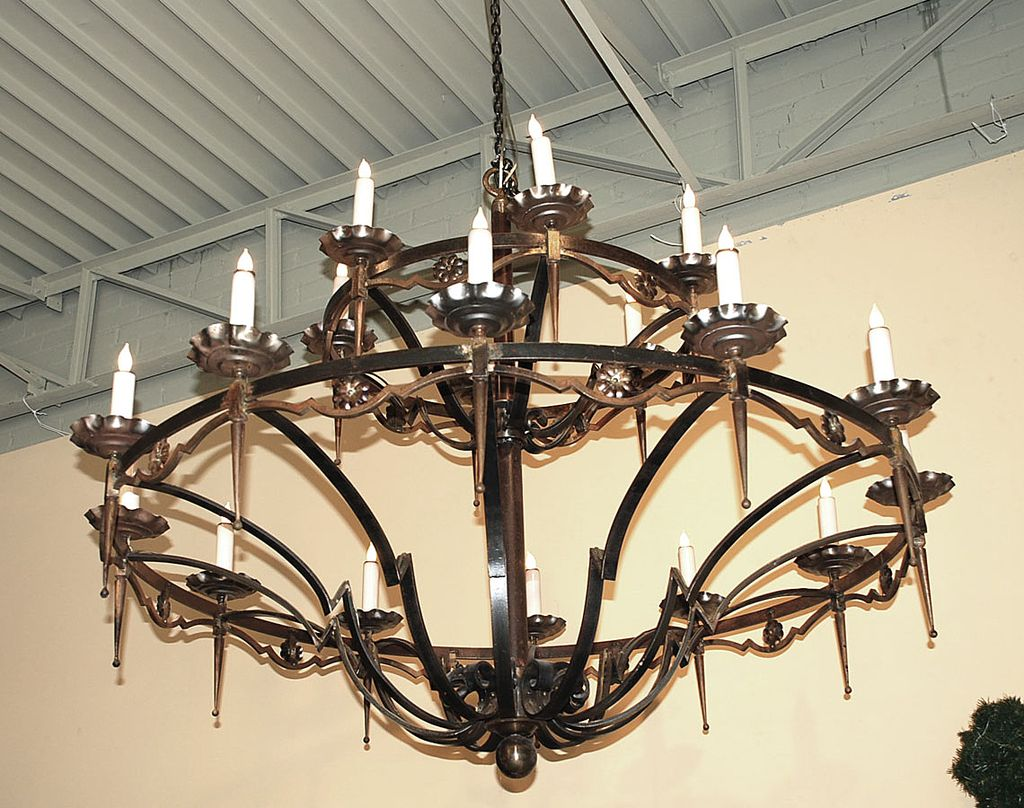 Eighteen Light Iron Chandelier