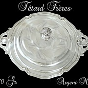 SOLD Tetard Fr�res. French Sterling Silver Vegetable Dish . 1270 gr.