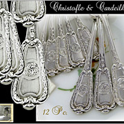 SOLD Christofle and Cardeilhac - Antique French Sterling Silver Mocha Spoons Louis XVI St.