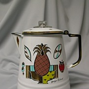 Georges Briard Enamel Coffee Pot Ambrosia (Pineapple) Pattern