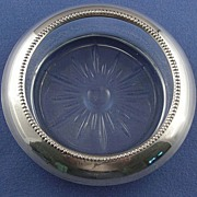 Whiting Sterling Silver and Crystal Coaster