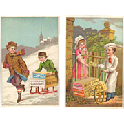 Victorian Trade Card - White Lustre Corn Starch
