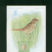 Singer Sewing Machine Advertising Card - Song Sparrow