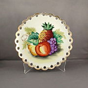 Ucagco Japan Handpainted Pineapple and Fruit Porcelain Plate