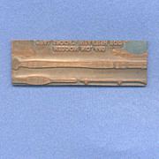 Vintage Letterpress Printers Block - Heddon Fishing Rod