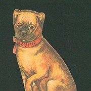 Victorian Die Cut Trade Card - Lavine Soap - Puppy