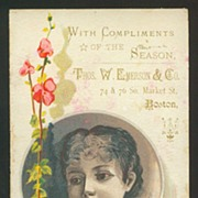 Victorian Trade Card - Thos. W. Emerson Co. with Seed Chart