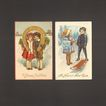 Vintage New Year Greetings Postcard Pair