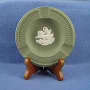 Wedgwood Fluted Sage Green Jasperware Three Slot Ashtray