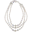 3 Strand Crystal Glass Necklace