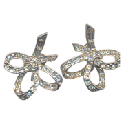 Fabulous 40's Rhinestone Earrings