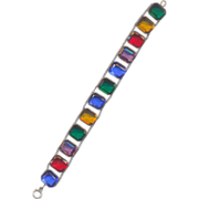 Multi Color Rhinestone Bracelet