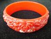 Rose-Red Funky Floral Plastic Bangle