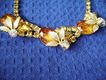 Oval & Pear Golden Citrine Rhinestone Choker w/AB Accents
