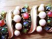 Stunning Vintage Bracelet - Enamel, Bead & Rhinestone