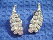 Vintage PELL Baguette & Round Clear Rhinestone Clip Earrings