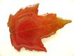 Vintage Plastic Maple Leaf Pin - Burnt Orange Color