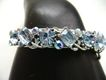 Vintage Blue Rhinestone LISNER Bangle Bracelet