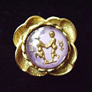Vintage Costume Adjustible Ring - Zodiac Sign Gemini?