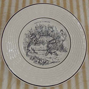 SOLD Six French Fables of Jean De La Fontaine Porcelain Vintage 1920's Plates - Tortoise and t