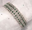 Vintage Green & Clear Rhinestone Bracelet