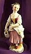 "Exquisite Porcelain Milk Maid Figurine ""M"" Mark"