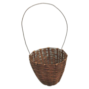 Rare Brass Woven Wire Vintage Miniature Basket Vintage