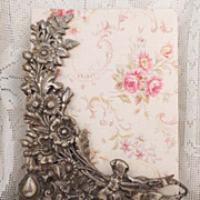 Antique Floral Photo Frame Ornate Vintage Silver Metal Picture Frame