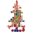 Christmas Tree Brooch with Crystal Candles and Ornaments
