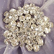 SOLD Large Vintage Crystal Rhinestone Star Brooch - Stunning