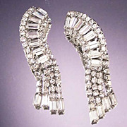 Elegant Vintage Long Chandelier Rhinestone Earrings